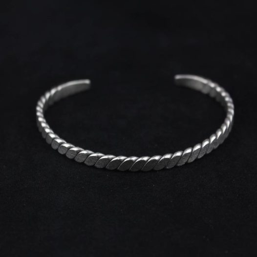 Flat Brushed Segments Silver Bracelet
