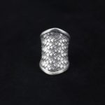 Large Woven Silver Statement Ring
