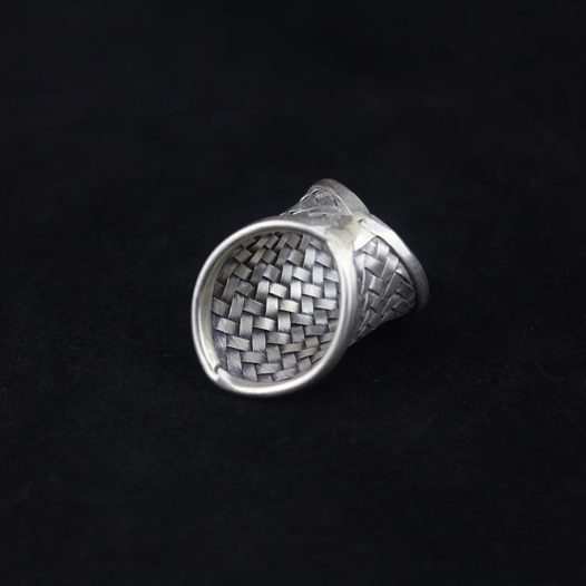 Woven Hill Tribe Silver Statement Ring 'Royal Traditions'