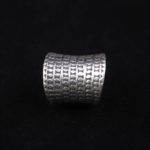 Fine Silver Artisan Groove Ring 'Rice Harvest'
