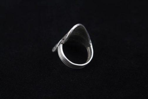 Fine Silver Heart Statement Ring 'Loving Heart '