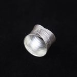Fine Silver Artisan Ring 'Concentric Circles'