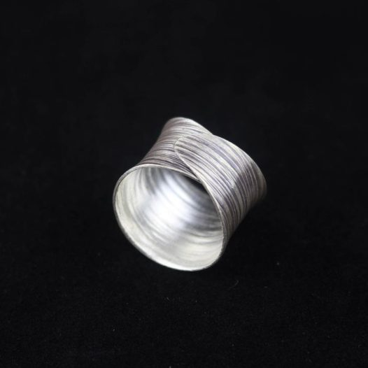 Fine Silver Artisan Ring 'Concentric Circles'