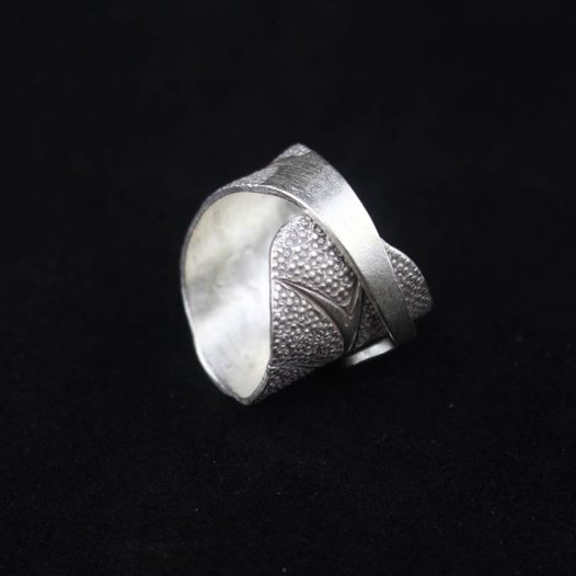 Silver Spiral Leaf Wrap Ring 'Spiral Leaf'