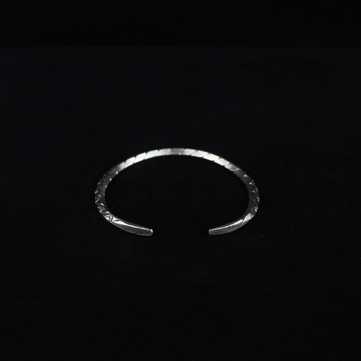 Thin Silver Cuff Bangle – Tribal Renditions