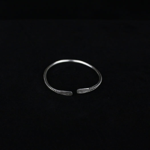 Light Silver Bangle for Women – 'Karen Twist'