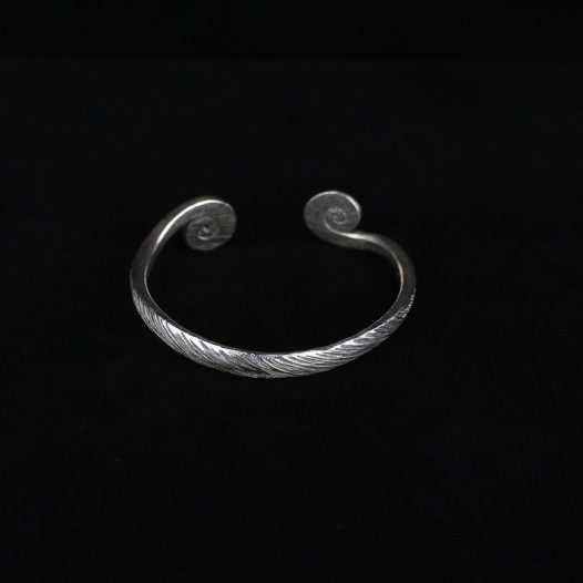 Brushed Silver Spiral Bangle – 'Infinity Spiral'