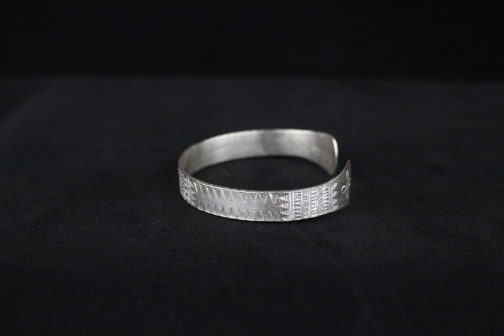 Sterling Silver Etched Tribal Motif