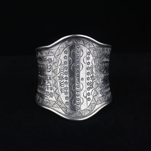 Fine Silver Statement Bracelet – 'Hill Tribe Eternal'