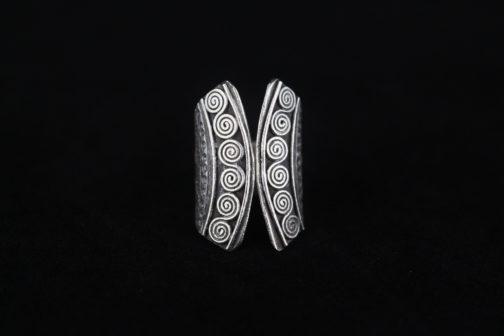 Tribal Silver Spiral Artisan Ring