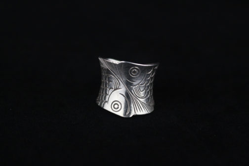Fine Silver Koi Fish Wrap Ring