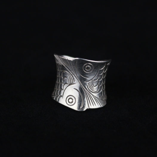 Fine Silver Koi Fish Wrap Ring 'Koi Wrap'