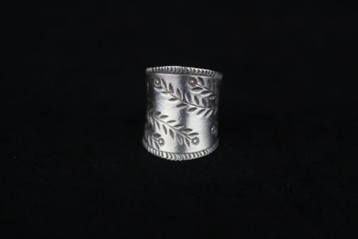 Handmade Fine Silver Paisley Ring