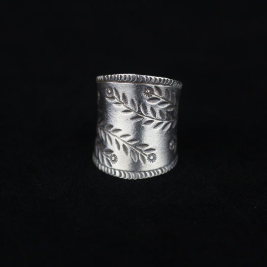 Silver Statement Ring for Women 'Chiang Mai Blossoms'