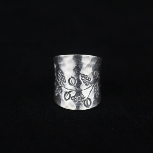 Hammered Silver Paisley Harvest Ring