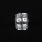 Double Groove Fine Silver Statement Ring  'Tribal Spirit'