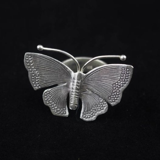 Hill Tribe Butterfly Silver Ring