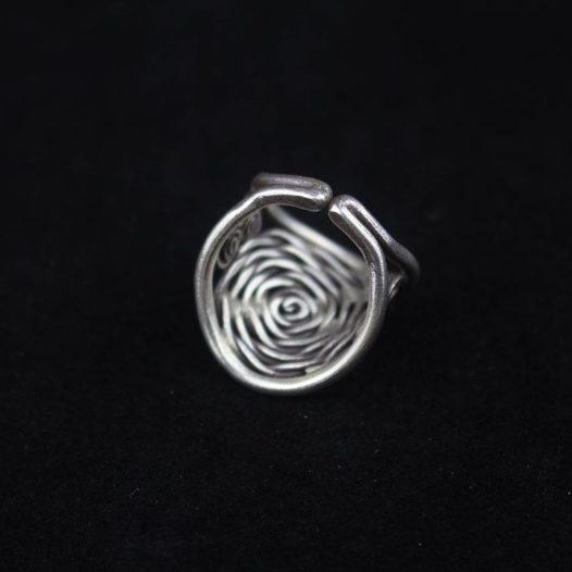 Fine Silver Spiral Artisan Ring 'Spiral Enigma'
