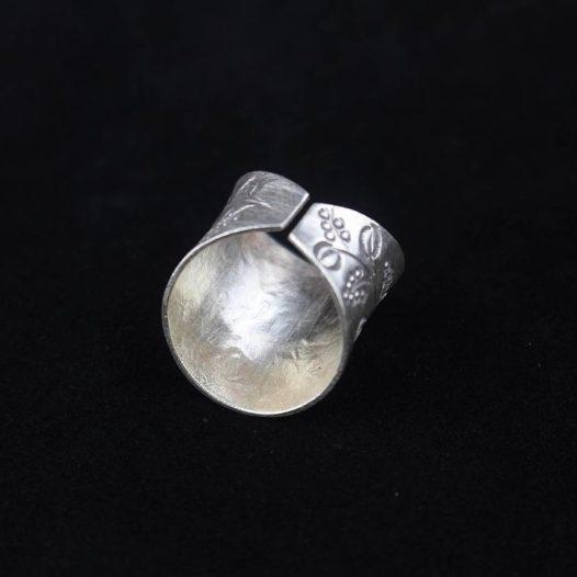 Hammered Silver Harvest Ring 'Grape Harvest'