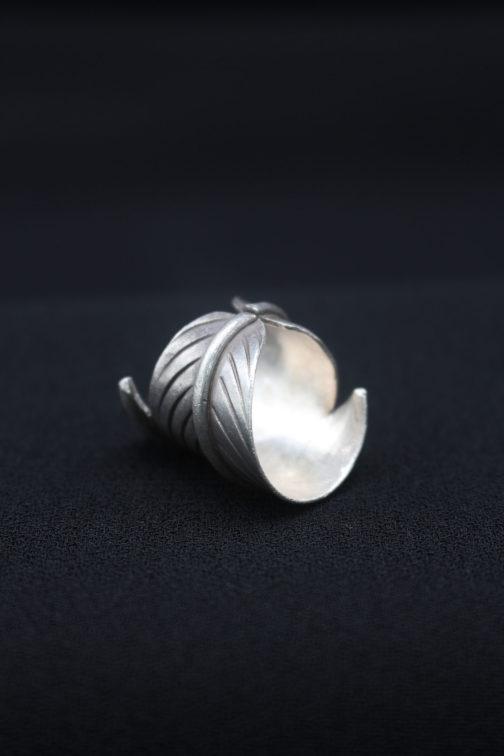 Artisan Silver Leaf Wrap Ring 'Leaf Wrap'