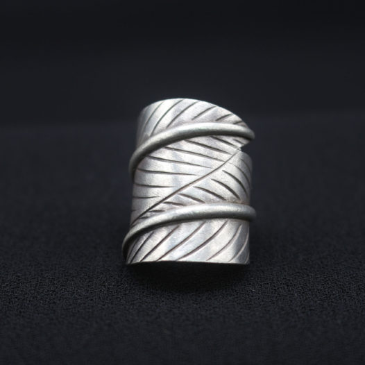 Artisan Silver Leaf Wrap Ring 'Leaf Wrap'