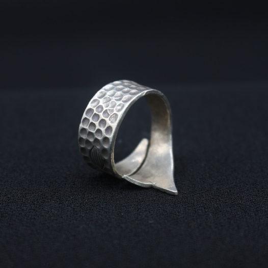 Koi Fish Silver Wrap Ring