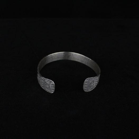 Tribal Etchings Silver Artisan Bracelet