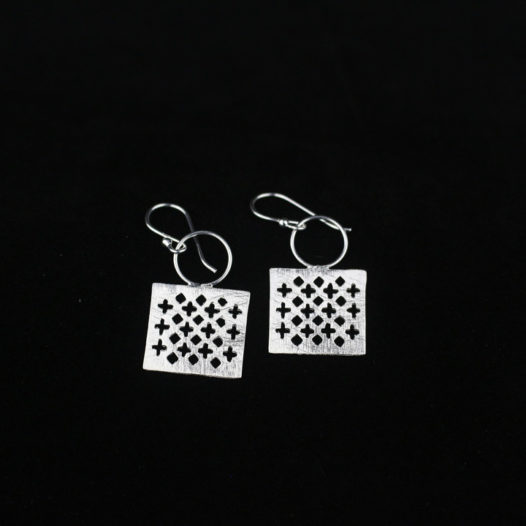 Fine Silver Earring 'Royal Flush'