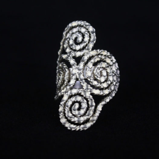 Handmade Silver Spiral Statement Ring