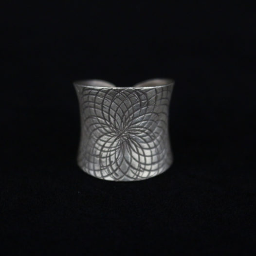 Silver Ring for Women 'Complex Layers'