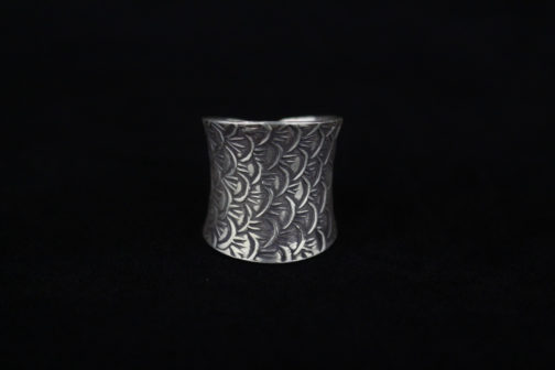 Fine Sterling Silver Ring for Women 'Old World Ripples'