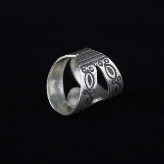 Unique Silver Ring for Women 'Shell Cutout'