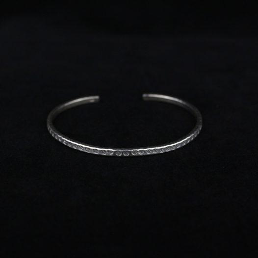 Circle Stamp Silver Bracelet