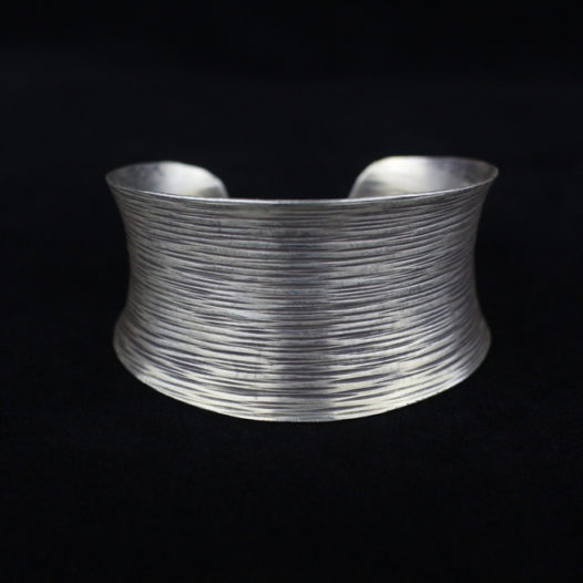 Brushed Wire Silver Cuff Bracelet
