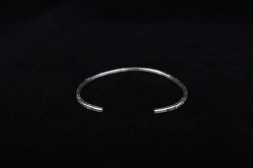 3D Tribal Stamp Silver Bracelet