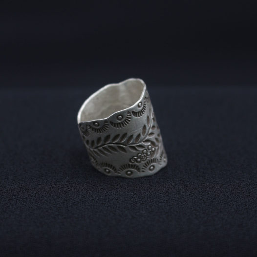 Double Vine Silver Artisan Ring For Women