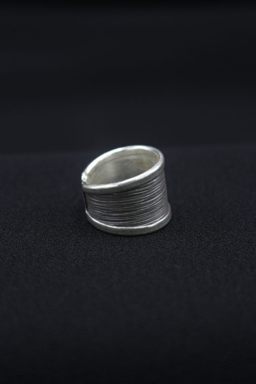 Brushed Silver Ring For Women 'Brush of Class'