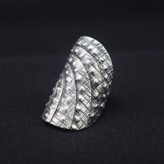 Silver Ripple Women's Statement Ring