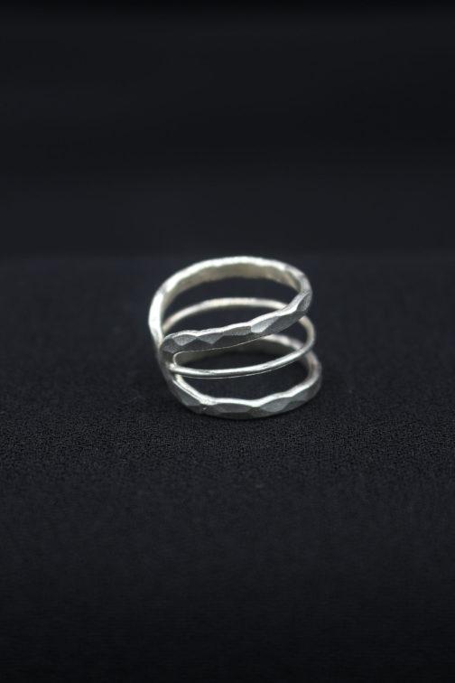 Artisan Silver Band Cutout Ring '3 Layer Cutout'