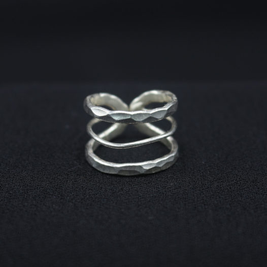 Artisan Silver Band Cutout Ring '3 Layer Cutout'