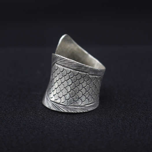 Silver Fish Wrap Ring for Women
