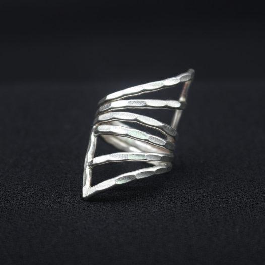 Women's Silver Ring 'Eastern Geometry'