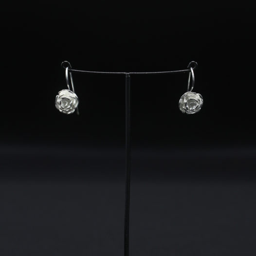 Silver Flower Petal Earrings