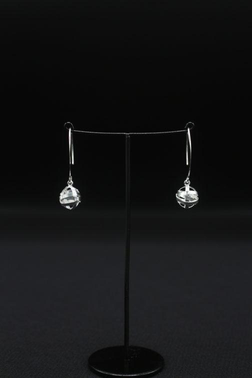 Silver Wire Wrapped Hook Earrings