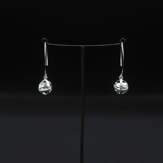 Silver Wire Wrapped Hook Earrings