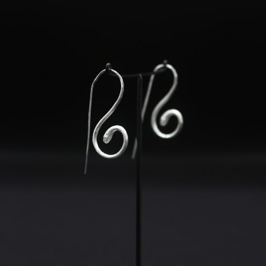 Silver Serpent Earrings for Women
