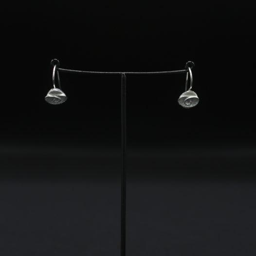 Fine Silver Nautilus Shell Short Wire Earrings
