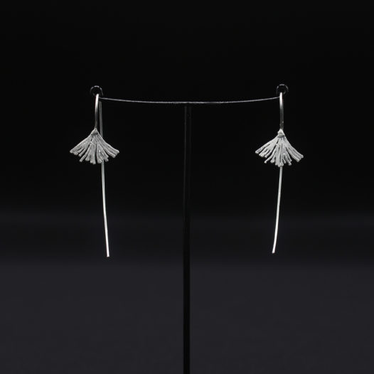 Silver Tassel Long Wire Earrings
