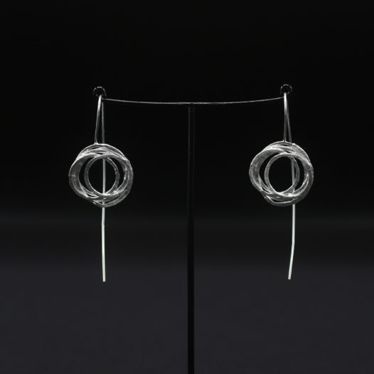 Silver Coil Earrings for Women