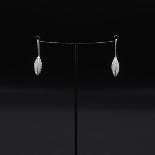 Segmented Pod Silver Earrings for Women